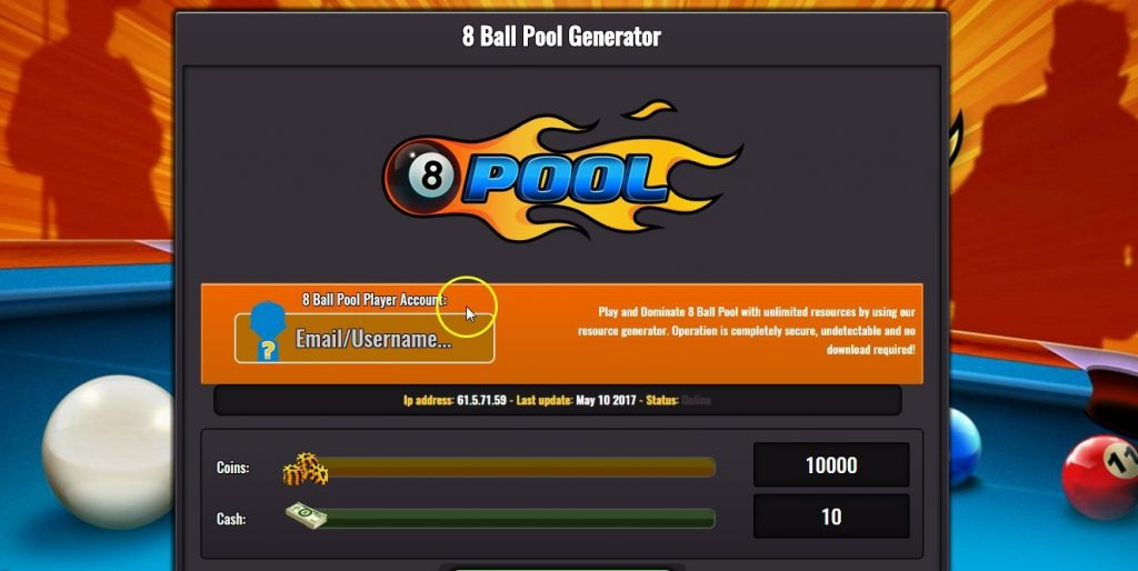 8 ball pool free coin cash generator no verification